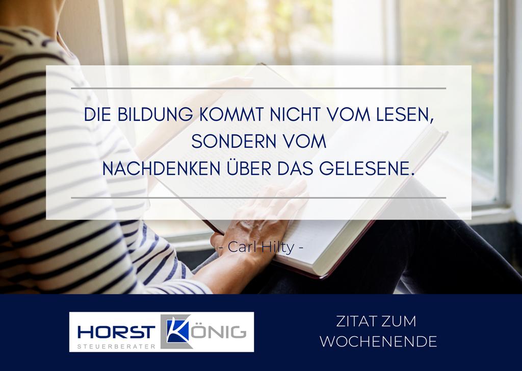 Zitat zum Wochenende! - Horst König, Steuerberater